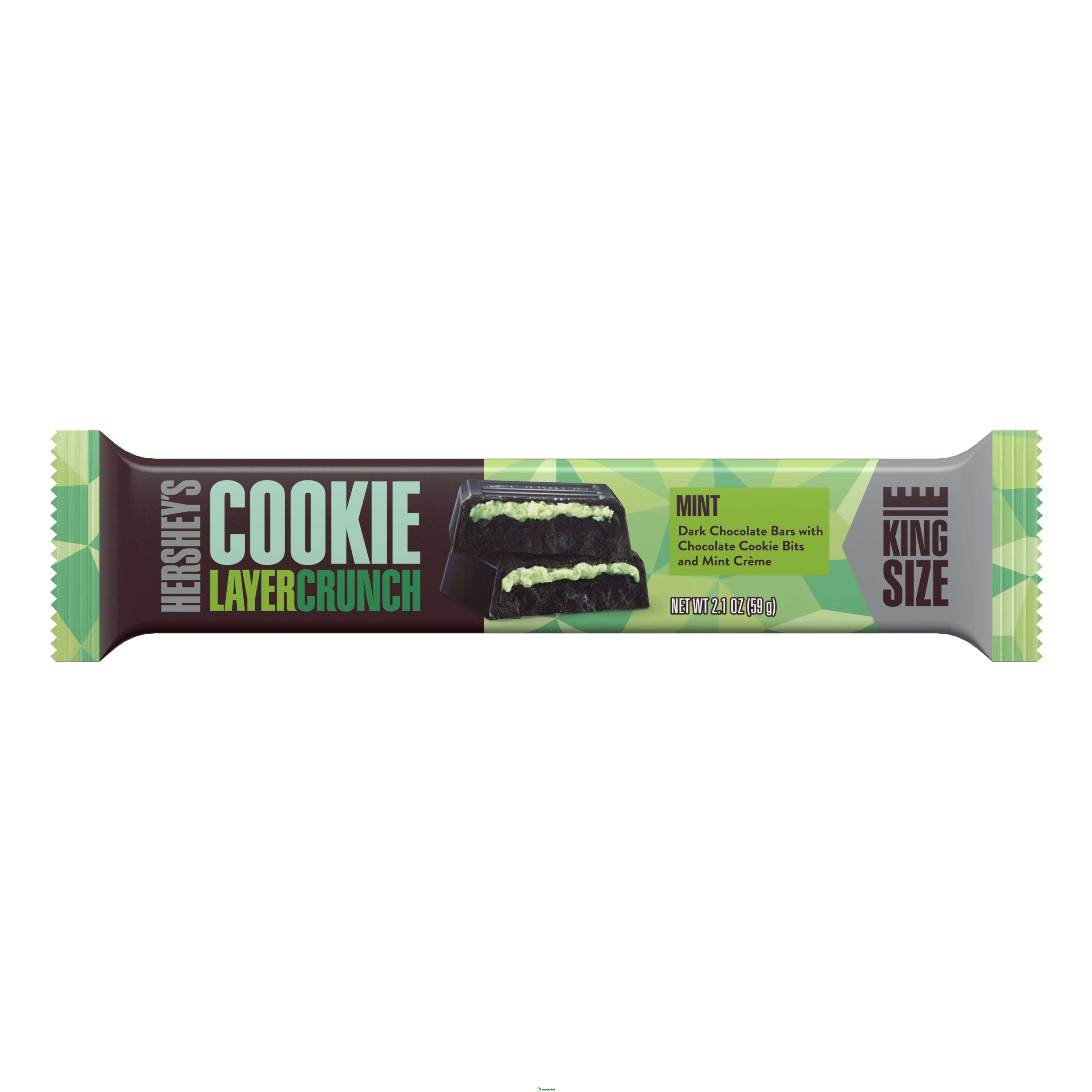 Шоколадная плитка Hershey's Cookie Layer Crunch, Mint 39гр.