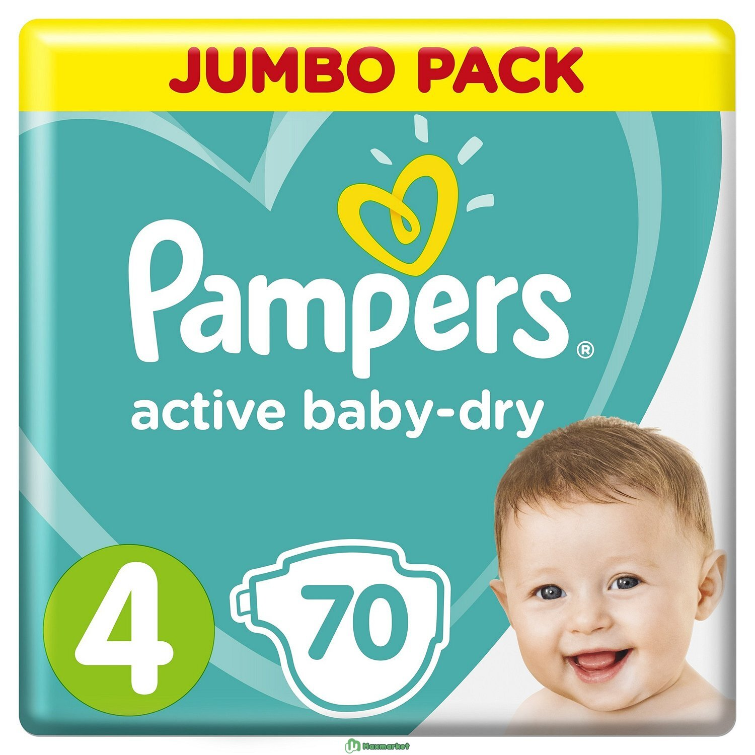 Подгузники Pampers Active Baby-Dry 4 9-14кг 70шт
