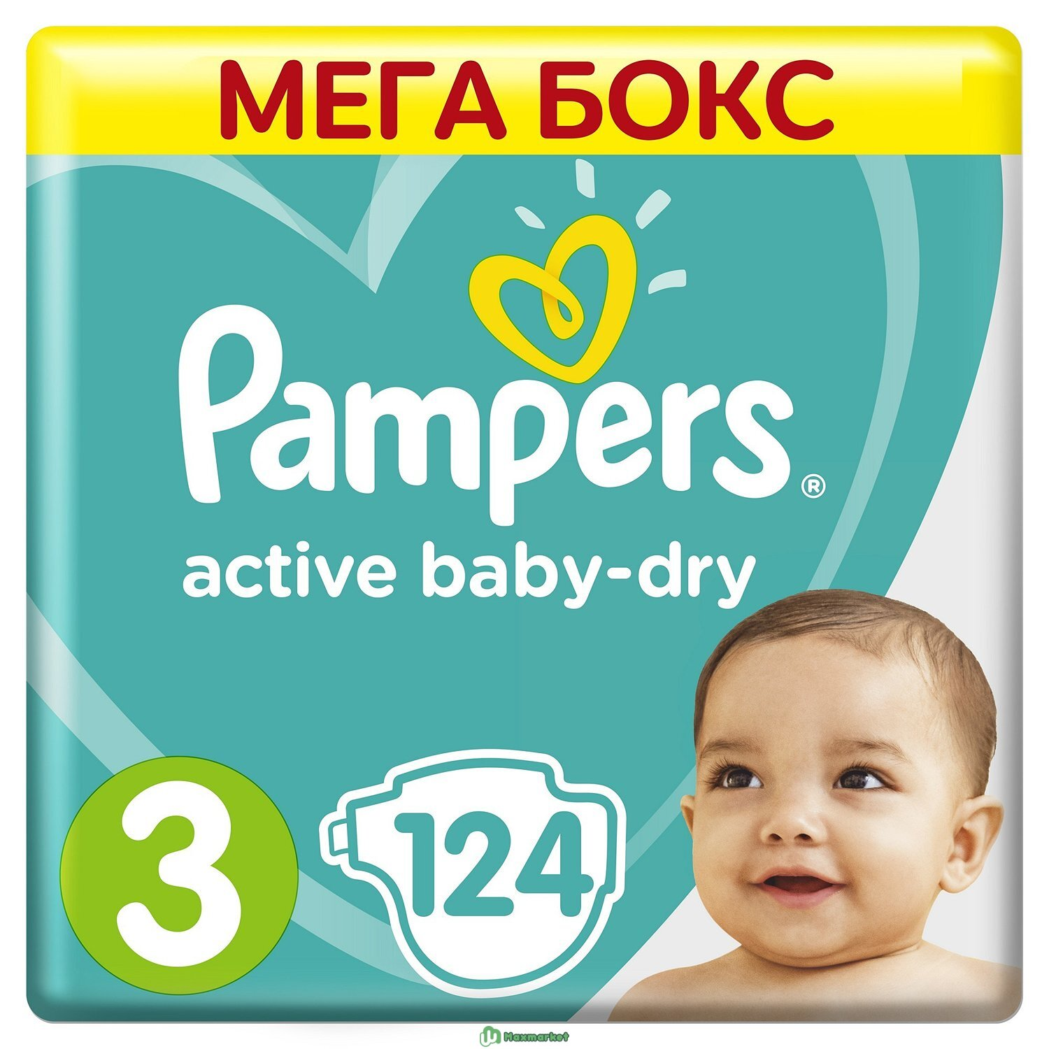 Подгузники Pampers Active Baby-Dry 3 6-10кг 124шт