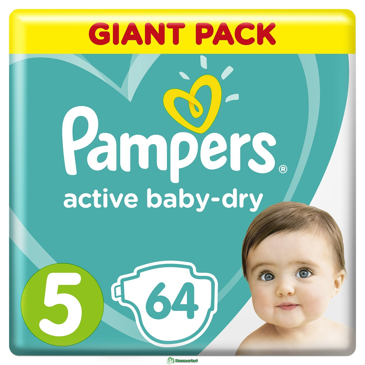 Подгузники Pampers Active Baby-Dry 5 11-16кг 64шт
